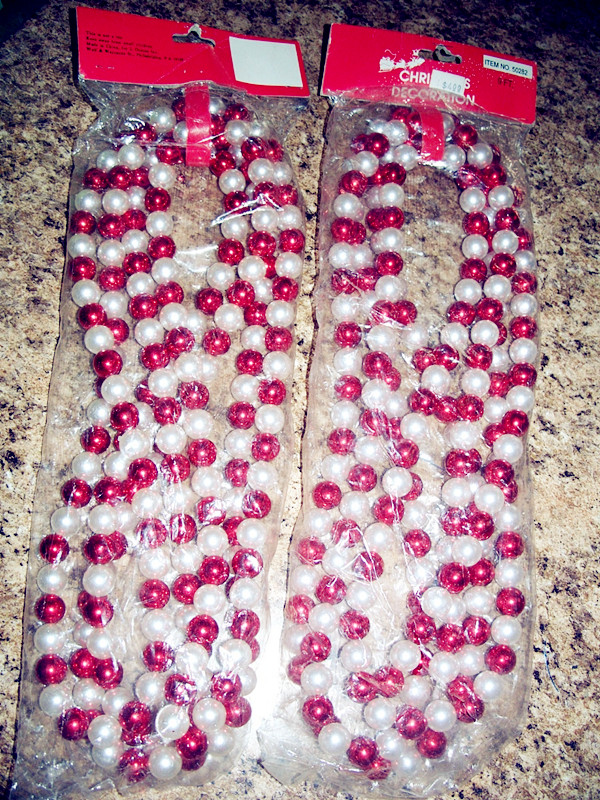 9 FT Christmas Decoration White and Red