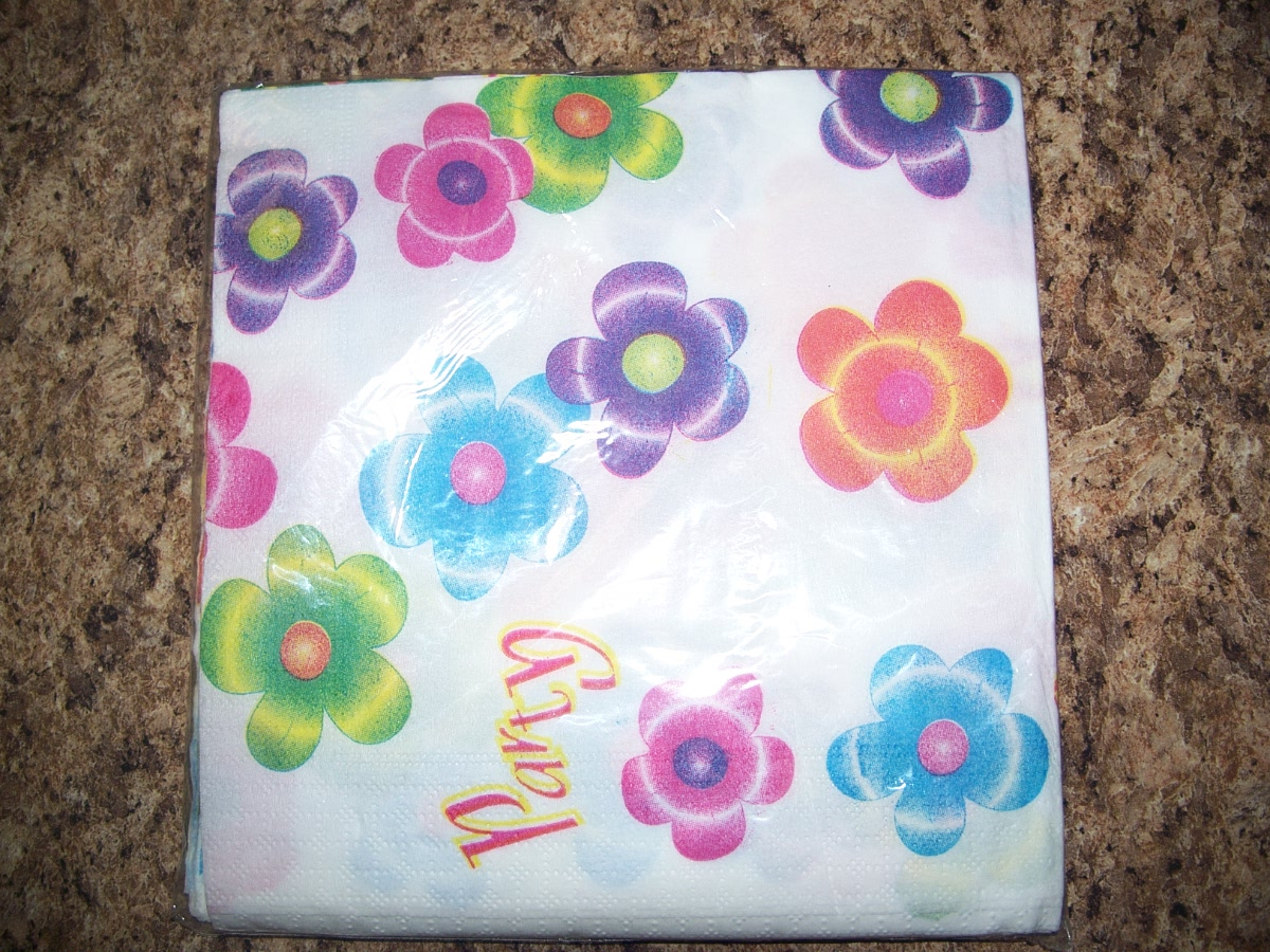 "12PCS Flowers Napkins 13"" X 13"""