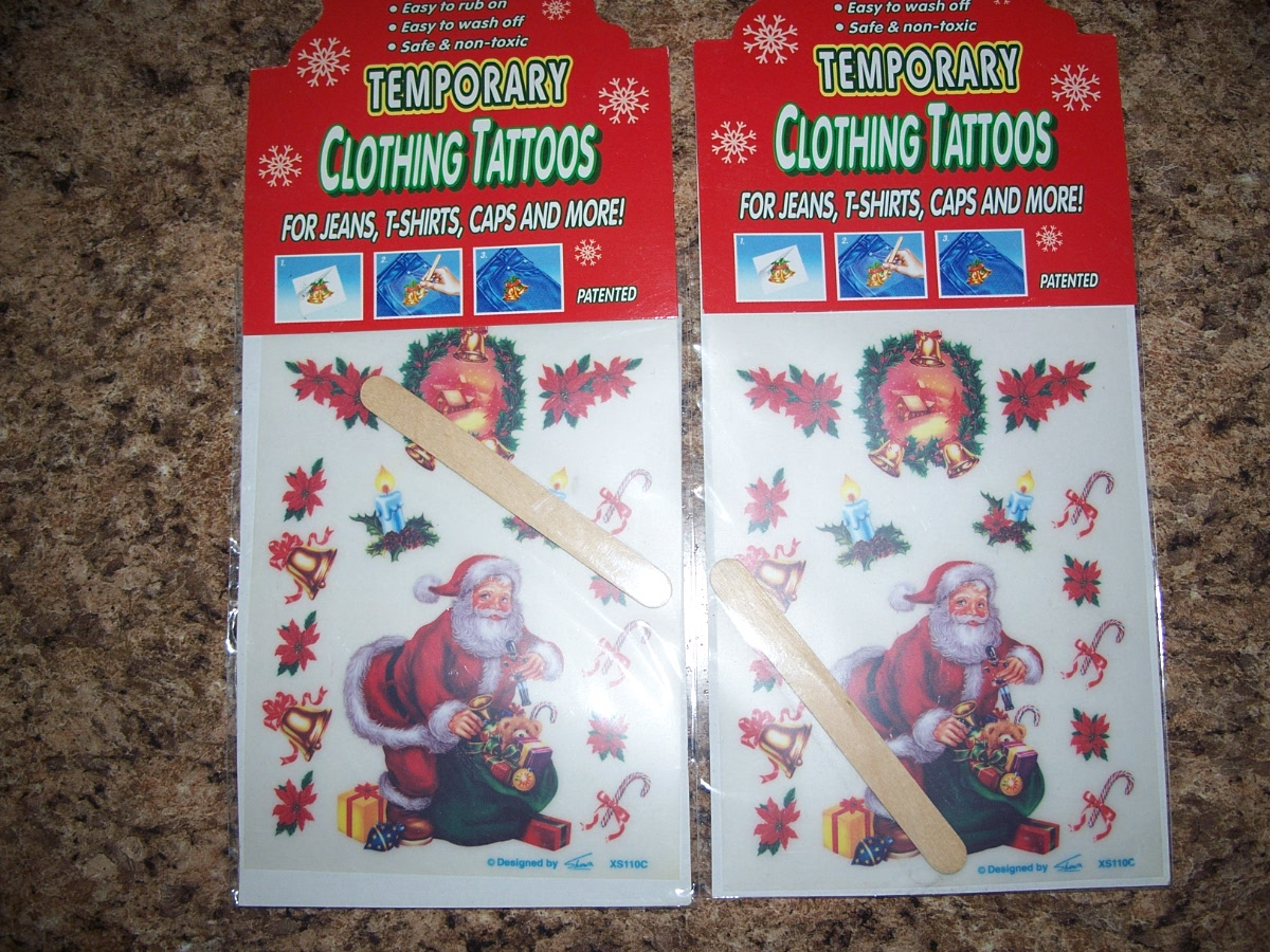 Christmas Clothing Tattoos For Jeans T-shirts Caps And More