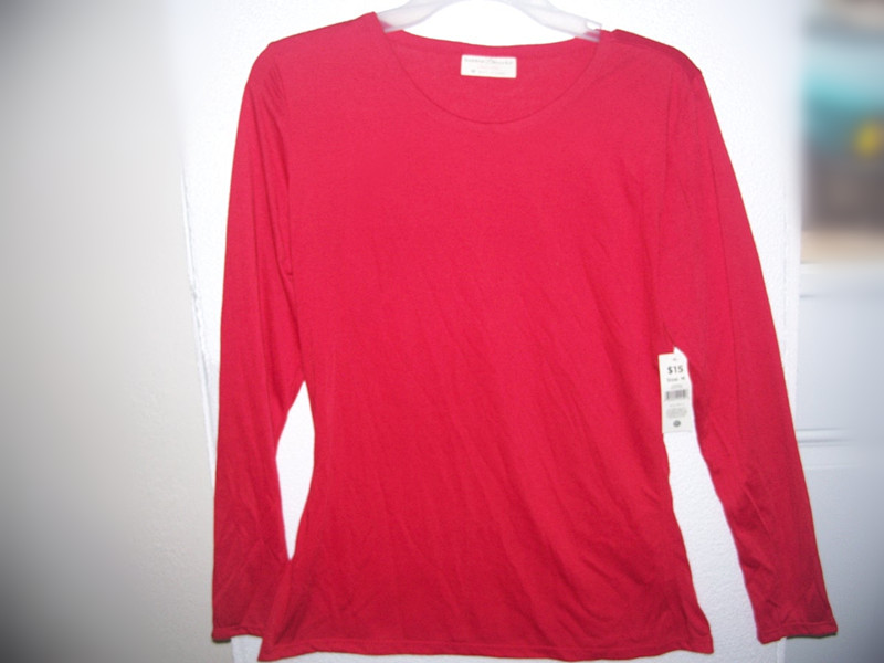 1 Piece Bobbie Brooks Sleepwear Top Sz M Red