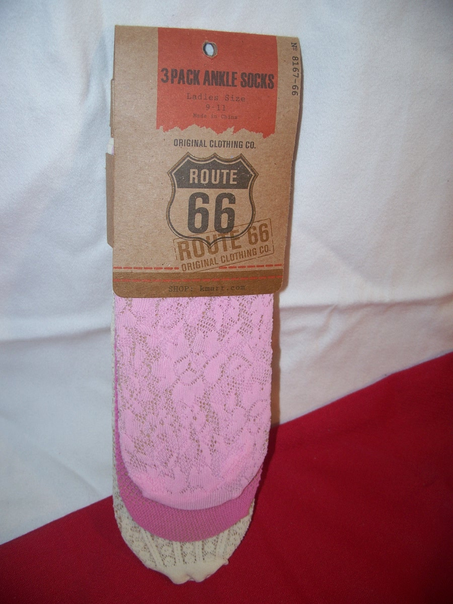 Route 66 3 Pack Ankle Socks Ladies 9-11 (Pink DK Pink,Cream)