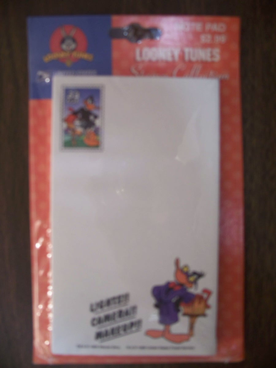 Looney Tunes Stamp Collection Notepad (Daffy Duck )