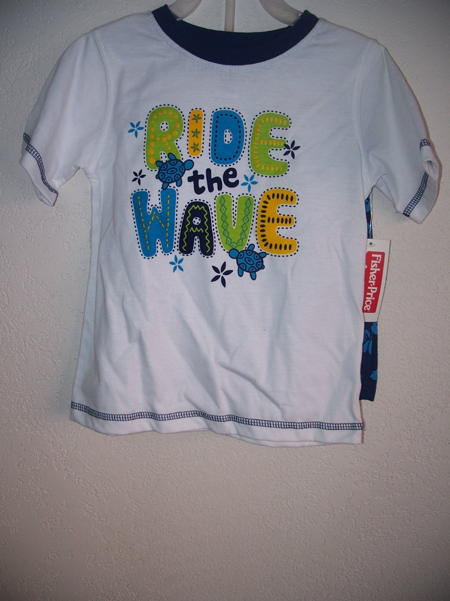 Fisher-Price Sz 4T Short Set (Ride the Wave)