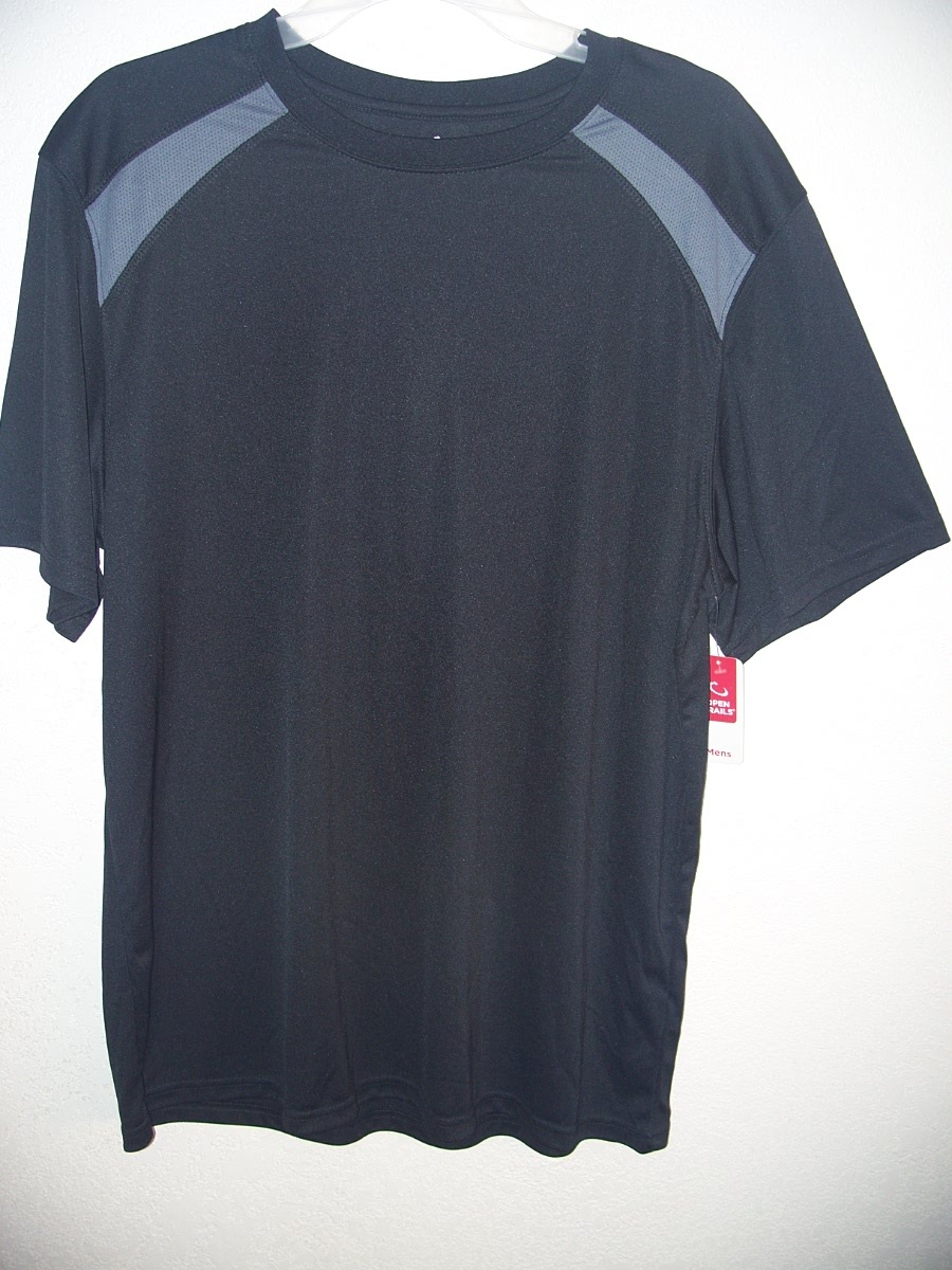 Open Trails Sz XL Black with Gray on Shoulders Shirt