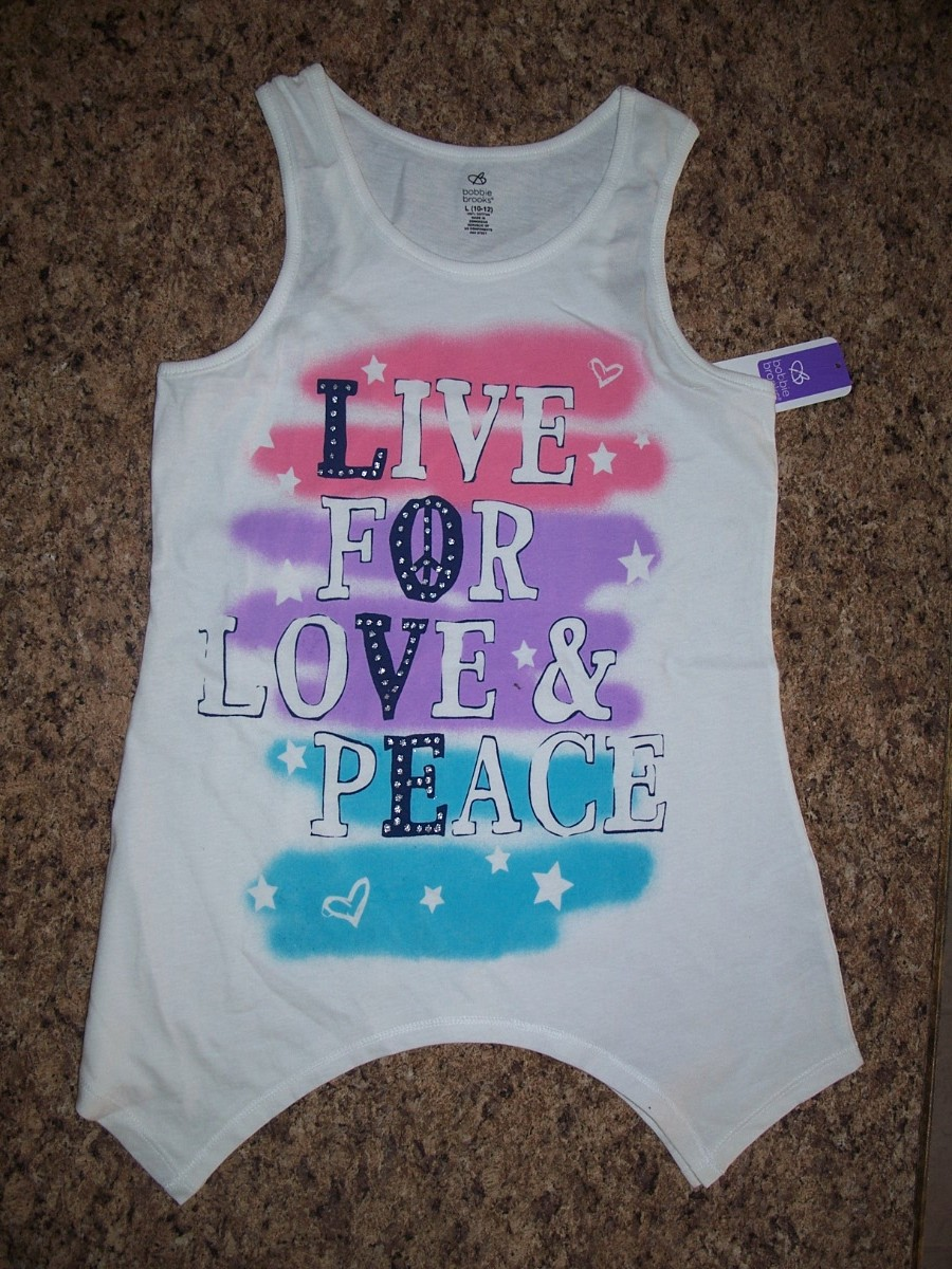 Bobbie Brooks Live For Love & Peace Sz L 10-12