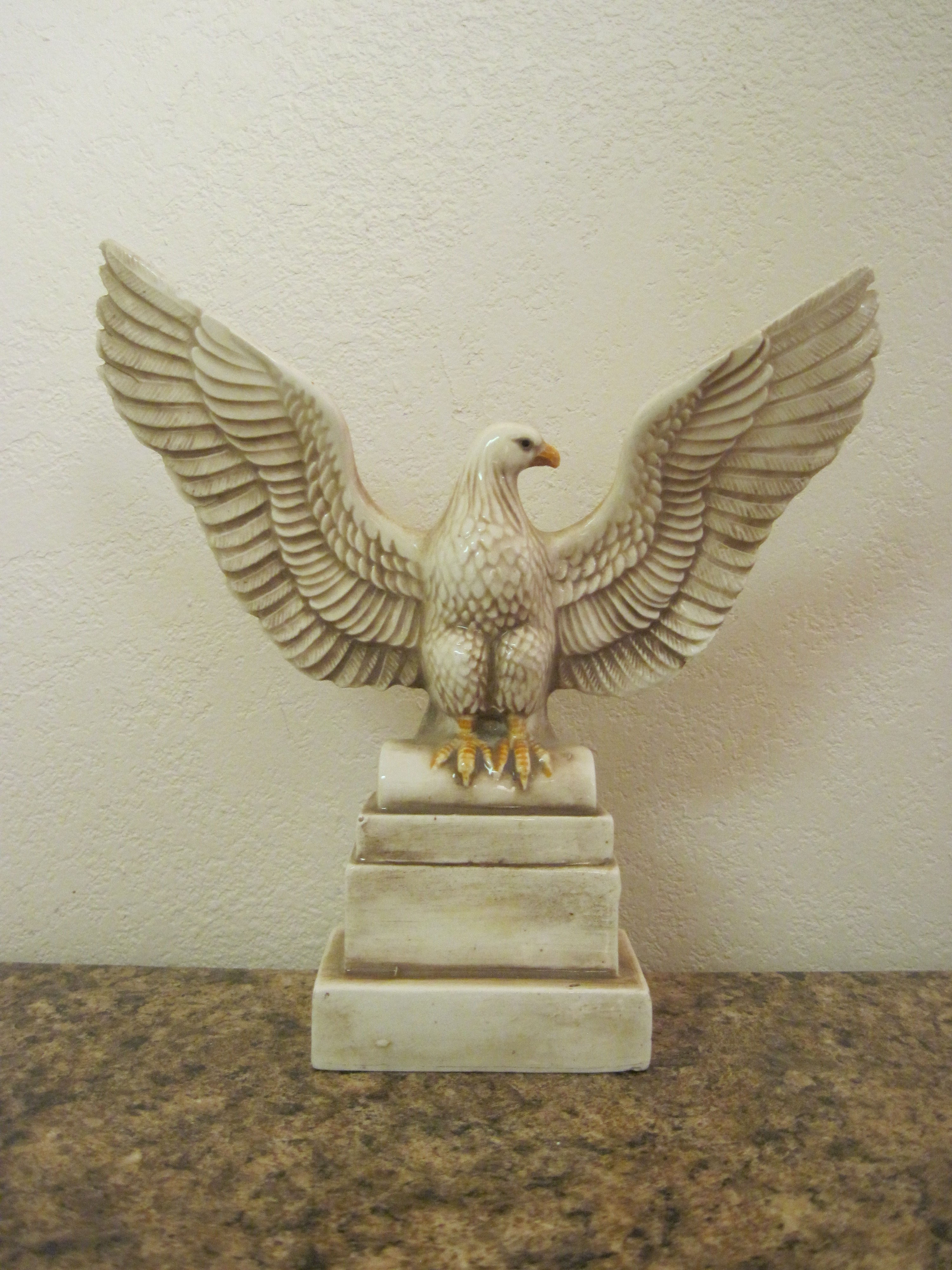 Porcelain Eagle With Wings Spread Wide Standing Proud