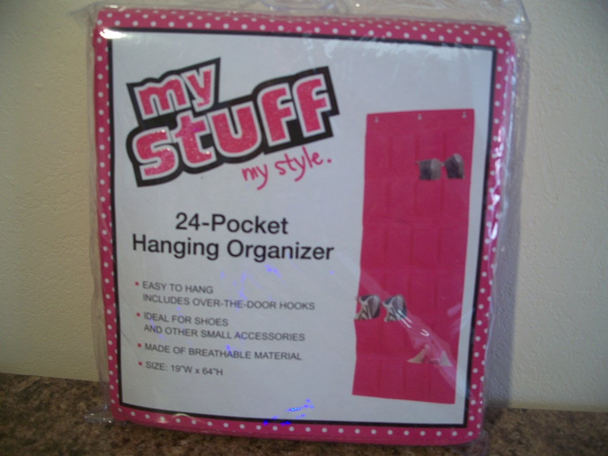 Hanging Organizer Pink 24 - Pocket