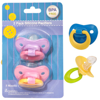 Silicone Pacifiers 2 ct. Pack