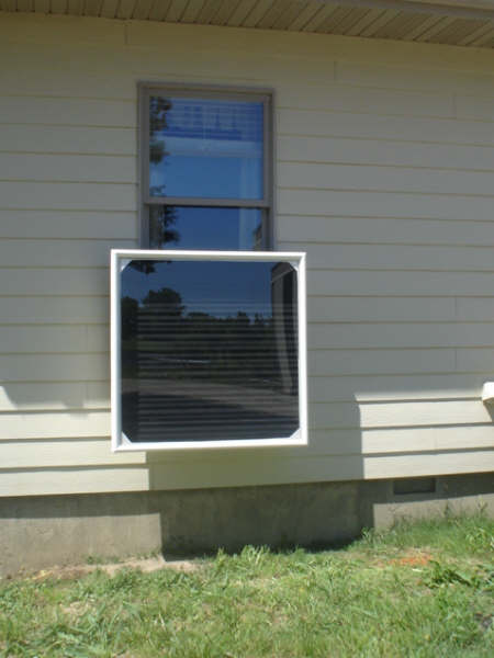 4 X 4 Solar Heater Window Mount