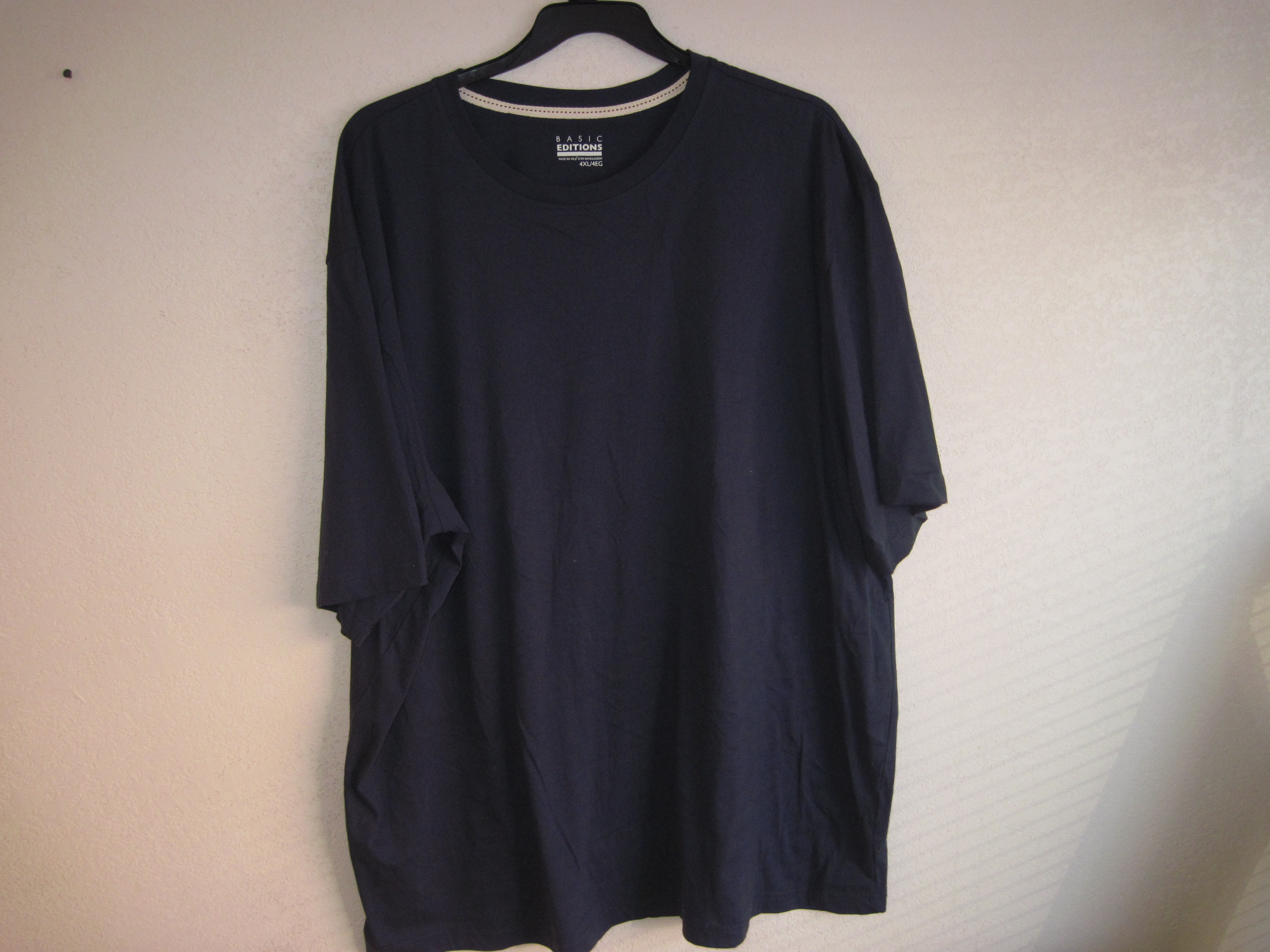 Basic Editions Sz 4XL Short Sleeve T-Shirt dark blue