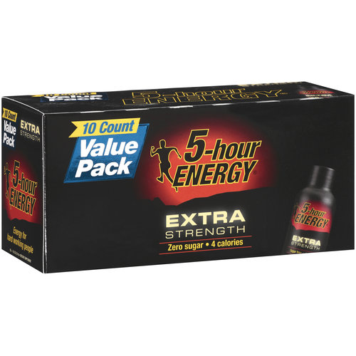 5-Hour Energy Extra Strength Dietary Supplement Value Pack, 10ct