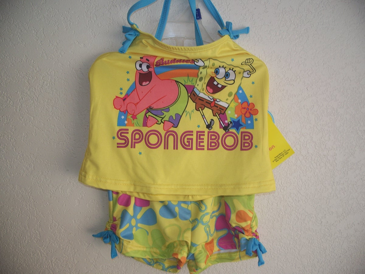 SpongeBob Sz 6/6X Squarepants Swim Suit