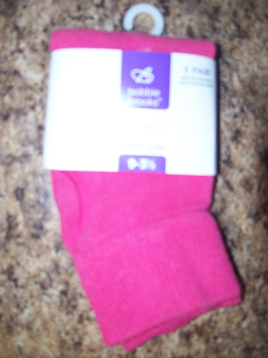 Bobbie Brooks girls ankle sock (pink )