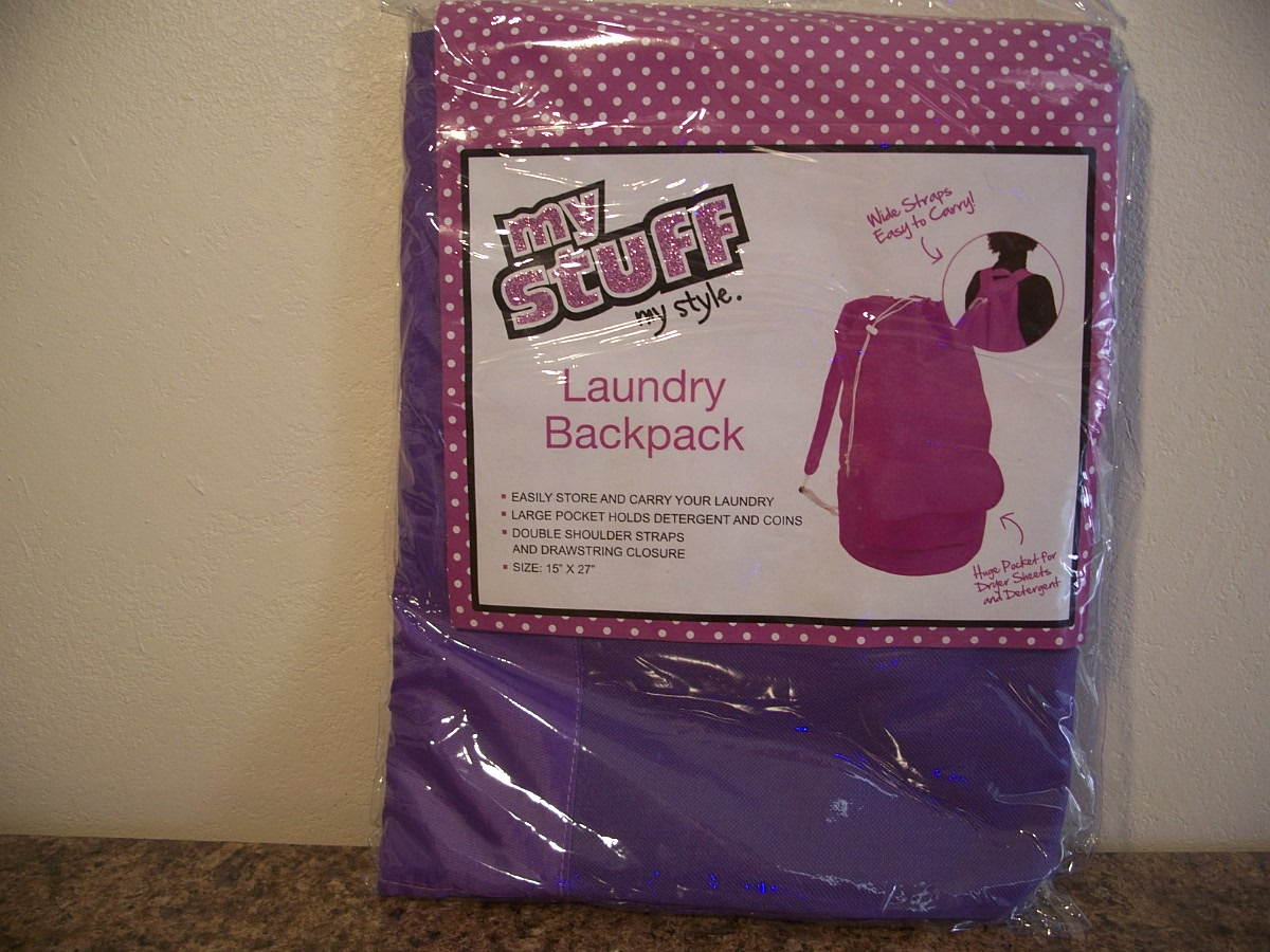 Laundry Backpack Purple