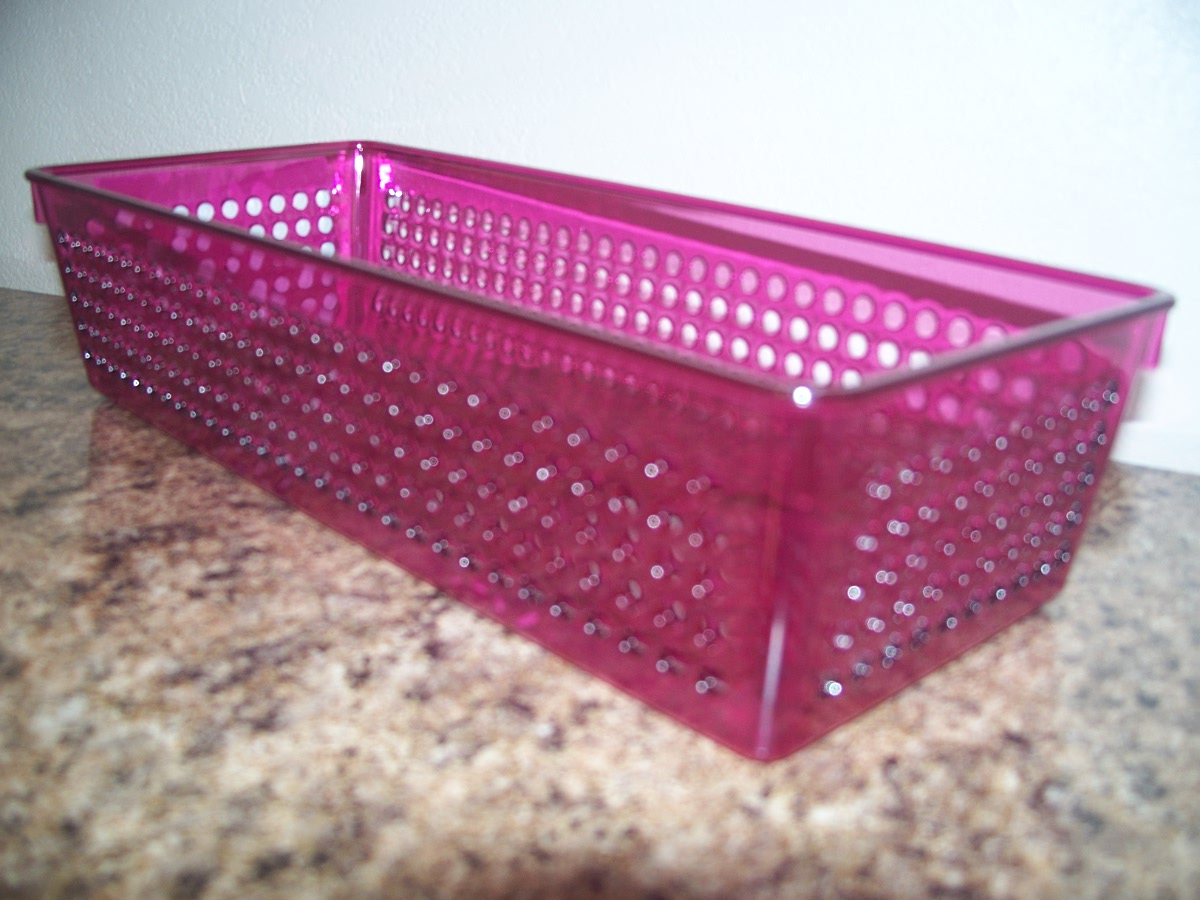 Medium Pink Plastic Basket