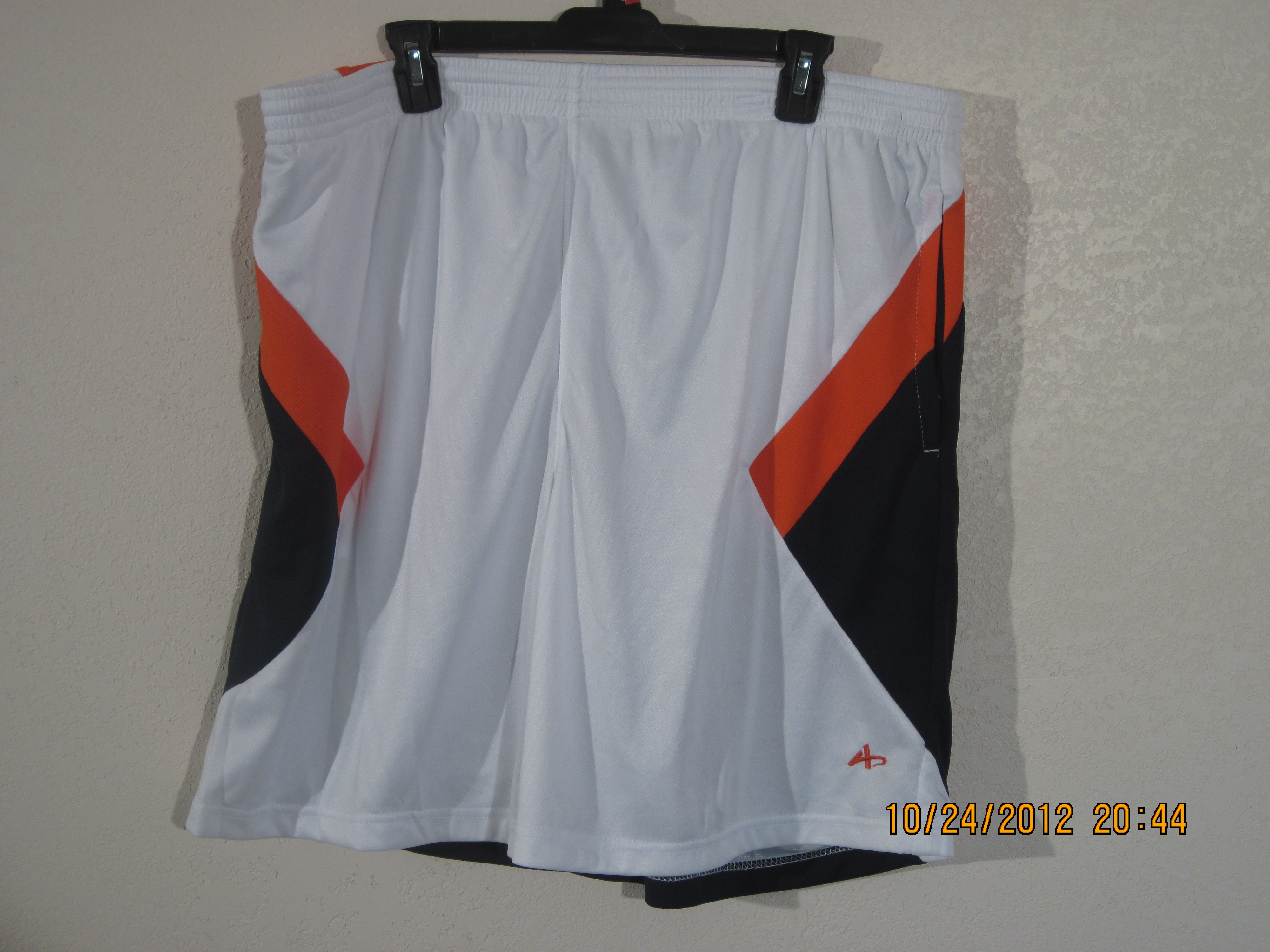 Athletech Sz XL Activewear Shorts(white,orange,navy blue)
