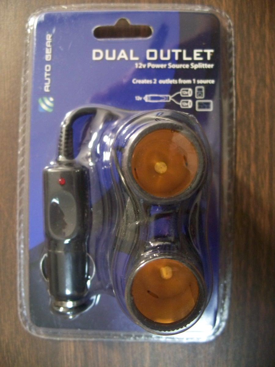 Auto Gear Dual Outlets (12v Power Source Spitter
