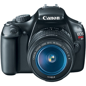 Canon EOS Rebel T3 Black 12.2MP