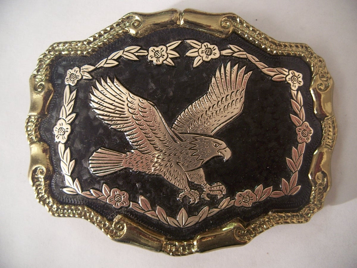 Flying Eagle Western Belt Buckle