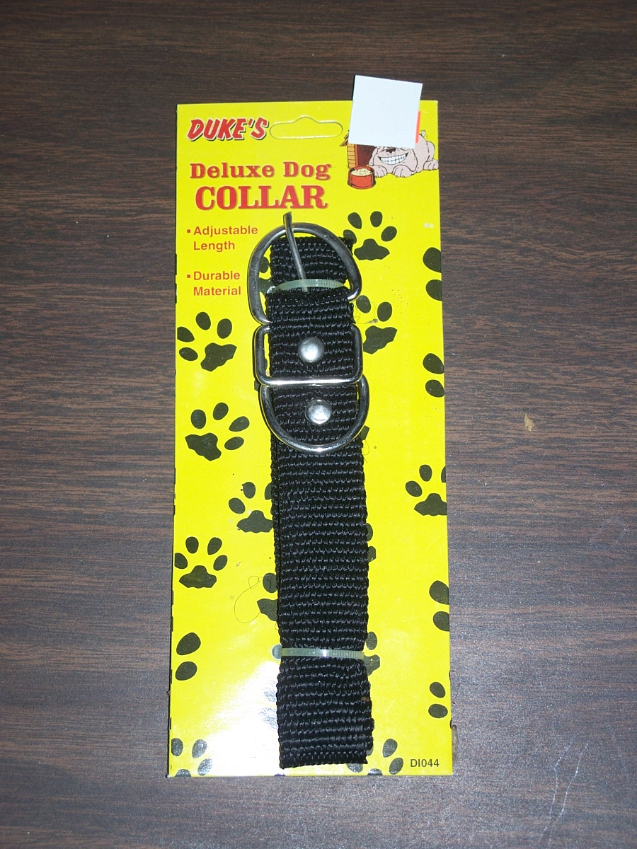 DUKES DELUX DOG COLLAR BLACK