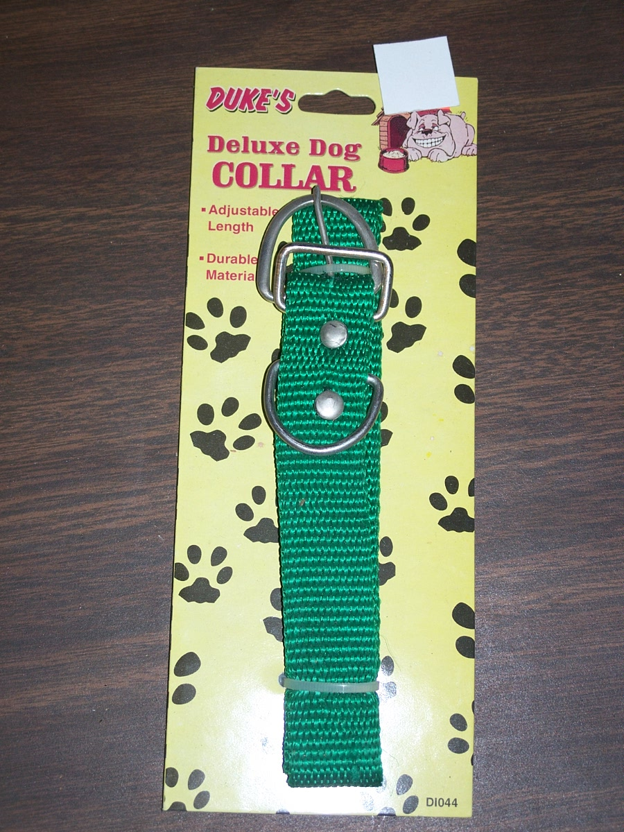 DUKES DELUX DOG LEASH GREEN