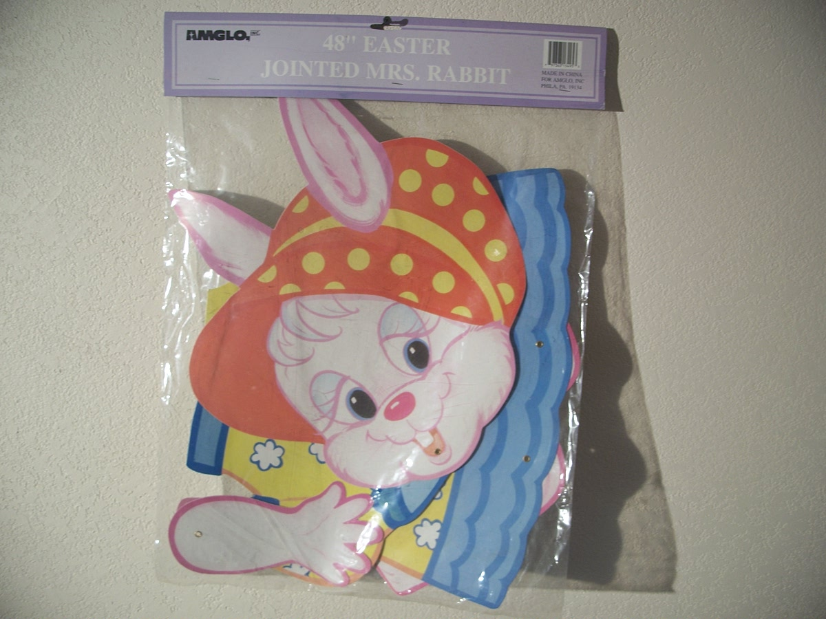 Easter Jointed MRS.Rabbit 48""