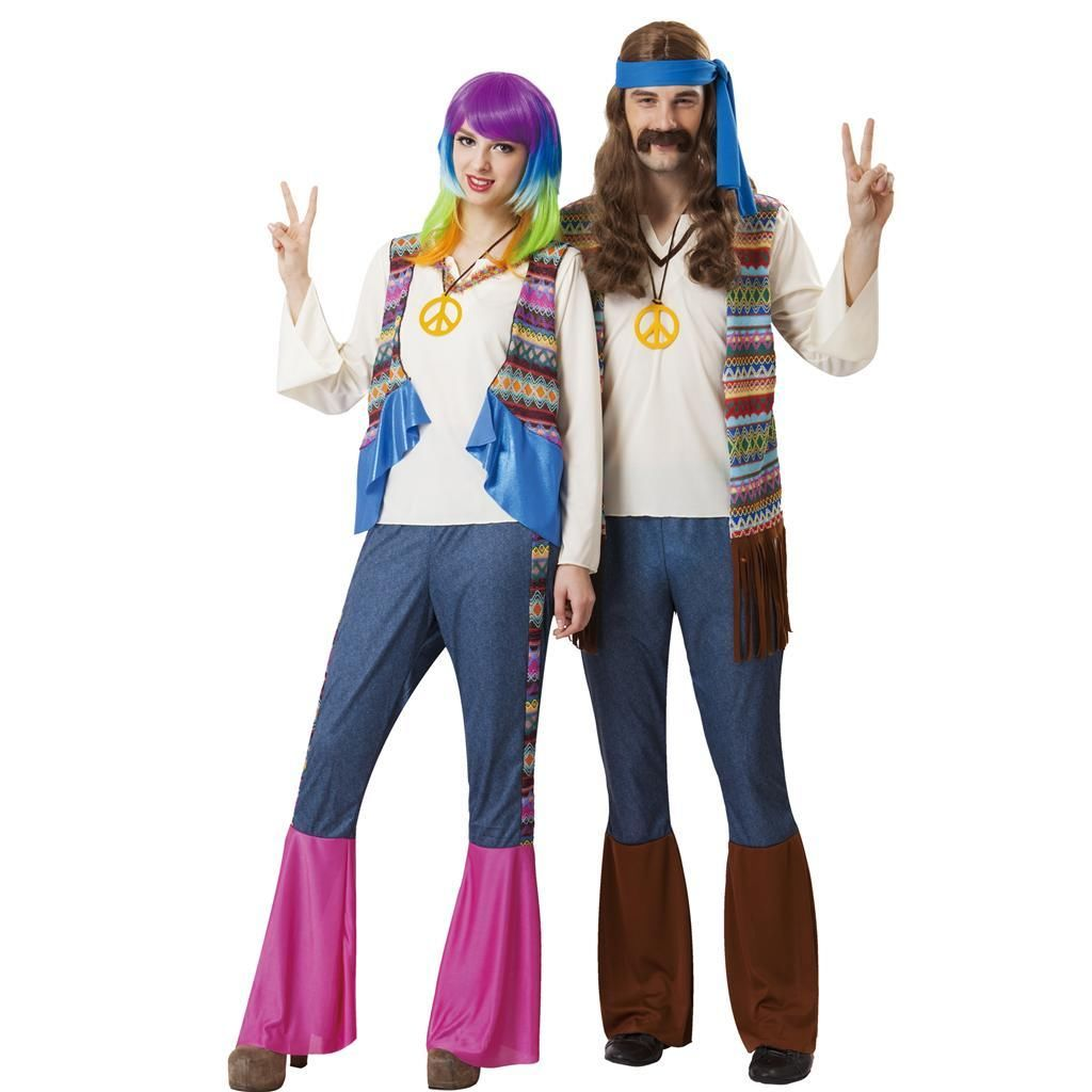 TOTALLY GHOUL HIPPIE WOMEN ONE SIZE HALLOWEEN COSTUMES