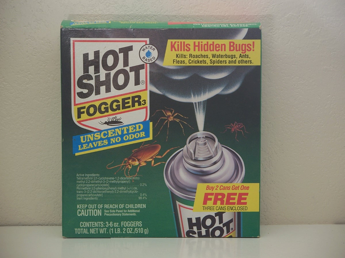 Hot Shot Fogger 3, with Odor Neutralizer, 3 - 6 oz foggers