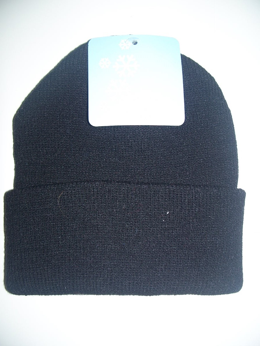Stocking Cap / Hat Boys Acrylic Black One size