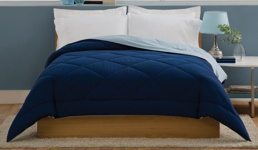 Villa Twin Comforter Light Blue / Dark Blue