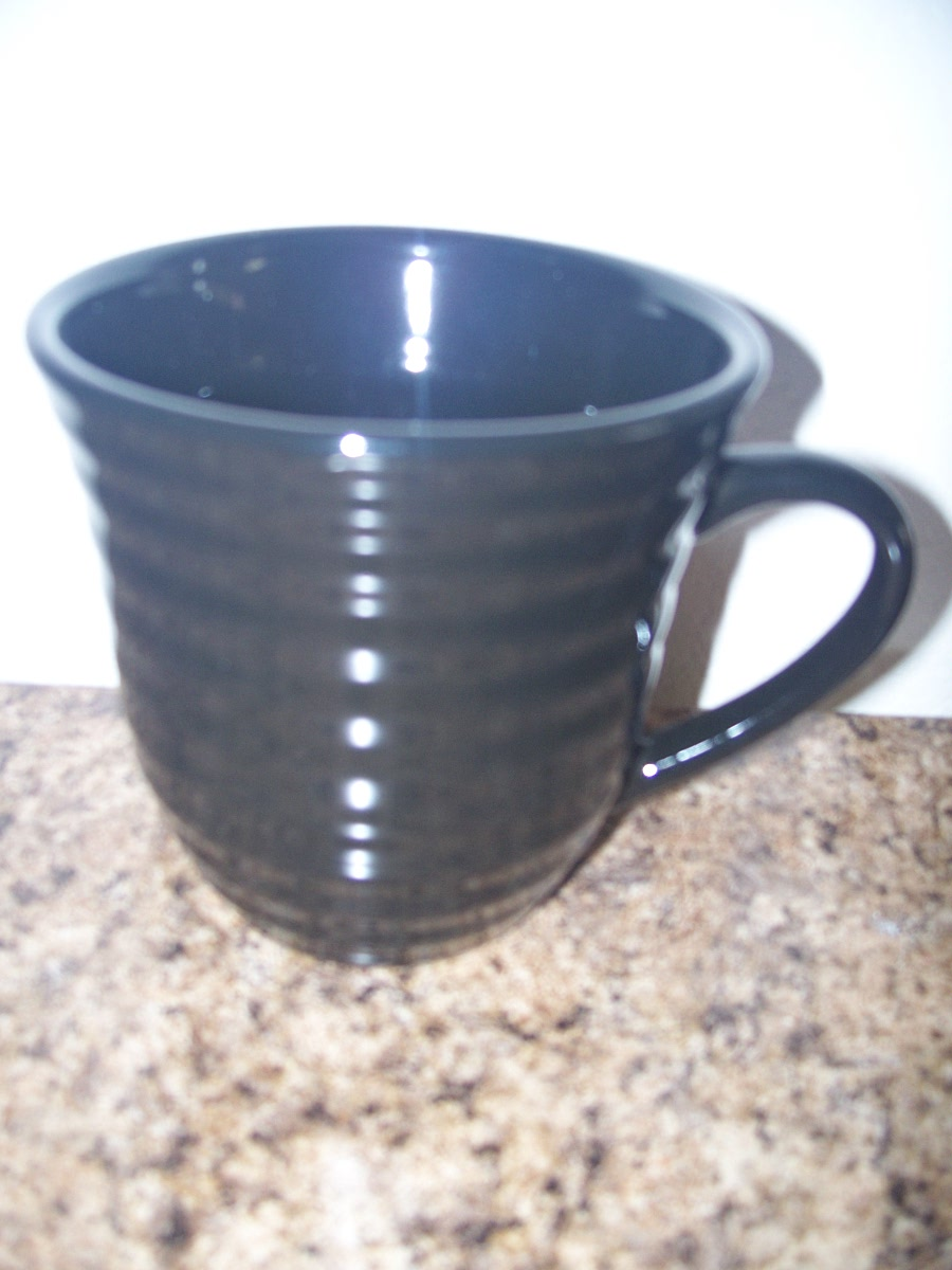 Ribbed Coffee Mug (Black)