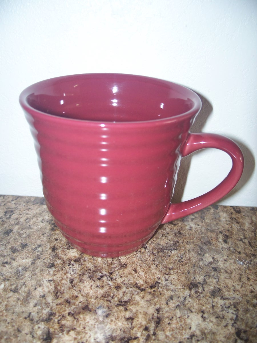 Ribbed Coffee Mug (Mauve)