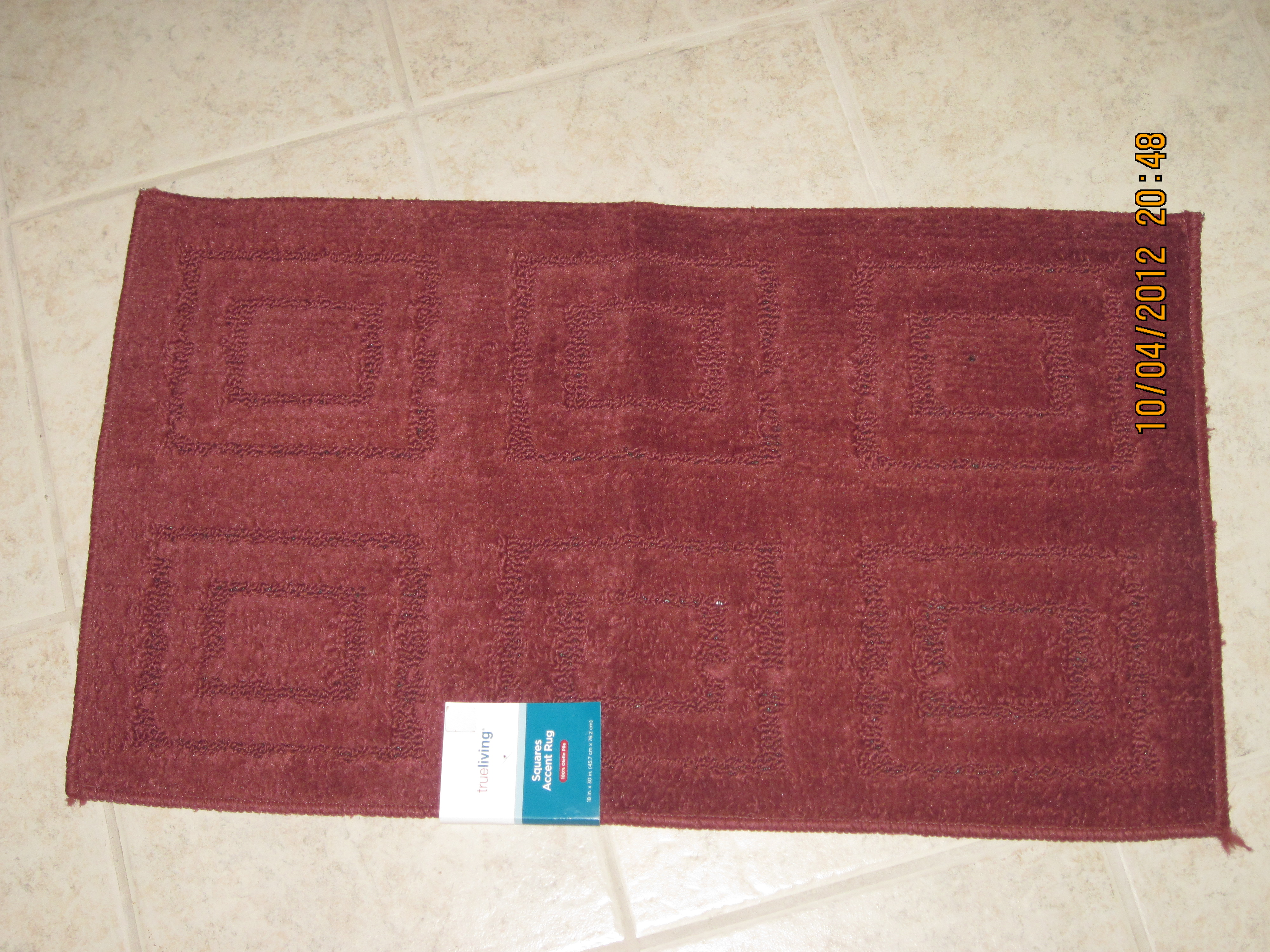 Ruby Squares Accent Rug