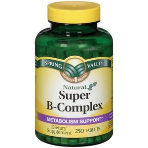 Spring Valley Natural Metabolism Support Super B-Complex Dietary