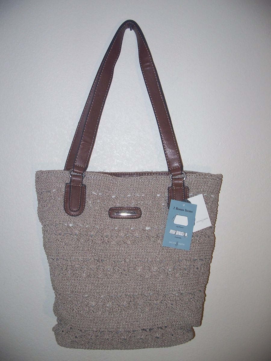 Jaclyn Smith Tan Super Tote Bag