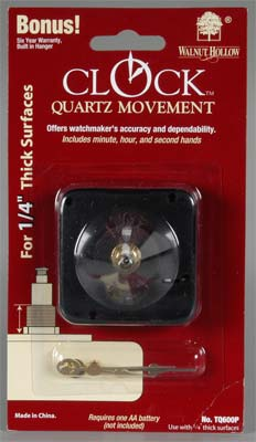 "Walnut Hollow TQ700P 3/8"" Clock Movement"
