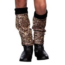 TOTALLY GHOUL HALLOWEEN WILD LIL' KITTY BOOT COVERS AGES 10-12