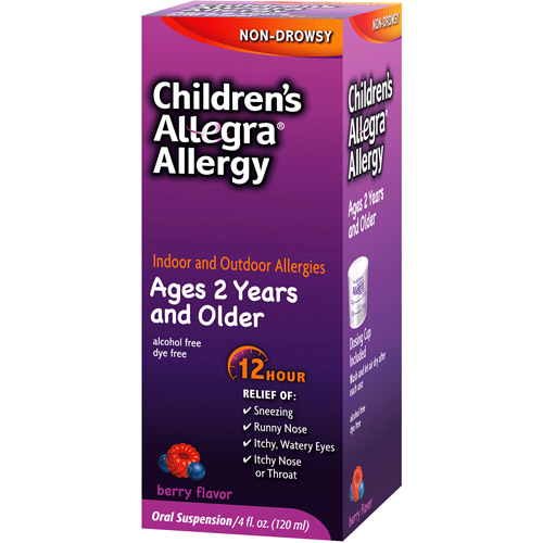 Allegra Children's 12 Hour Allergy Relief Liquid, 4 oz