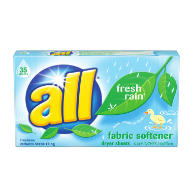 All Fabric Softener Dryer Sheets, 35 ct