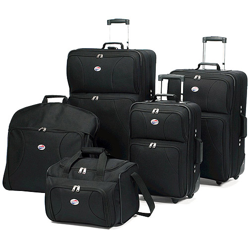 American Tourister 5-Piece Luggage Set, Black