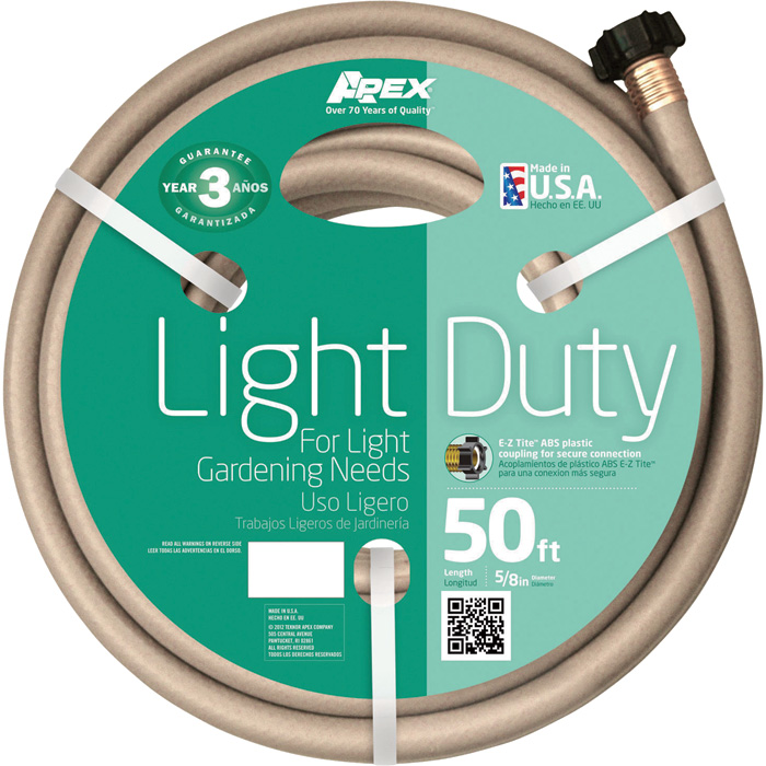 Teknor Apex Light-Duty Hose — 5/8in. x 50ft., Model # 8400-50