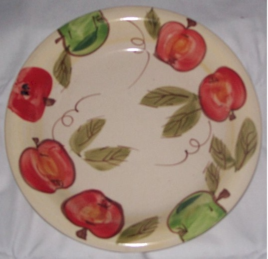 Apple Design Saucer Dinnerware place setting 1pc