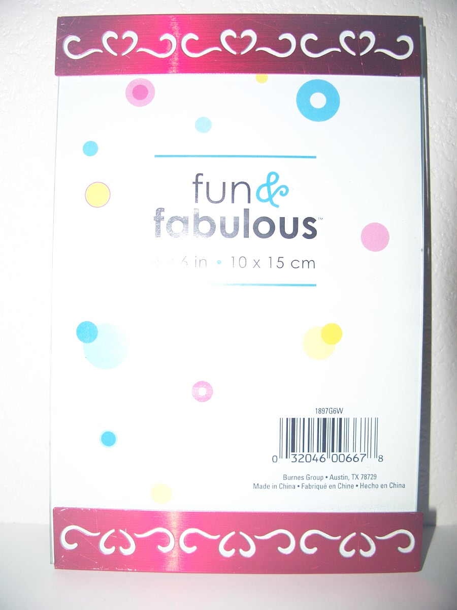 Fun & Fabulous Photo Frame 4 x 6 in