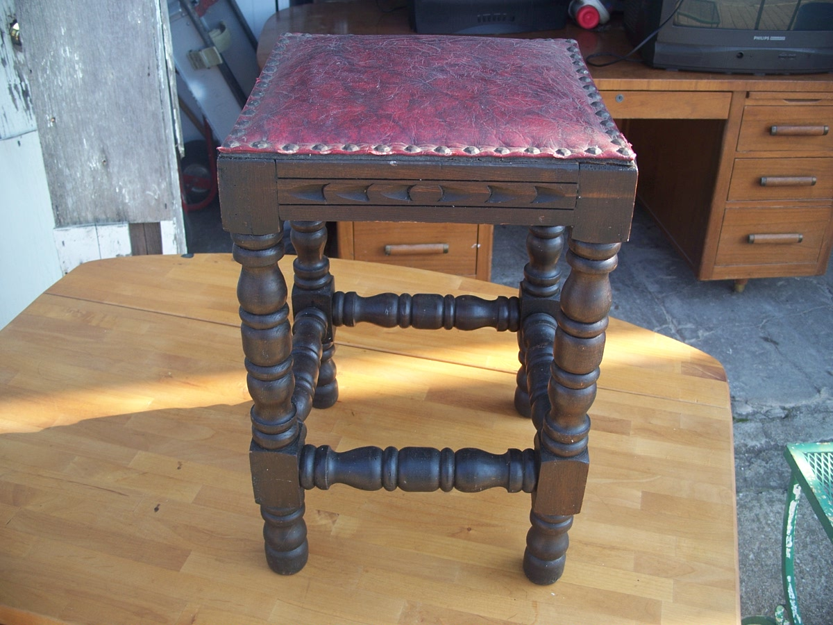 Vintage Antiques Old Piano Stool