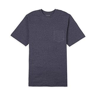 Basic Editions Sz Small Short Sleeve Pocketed Tee - blue grey