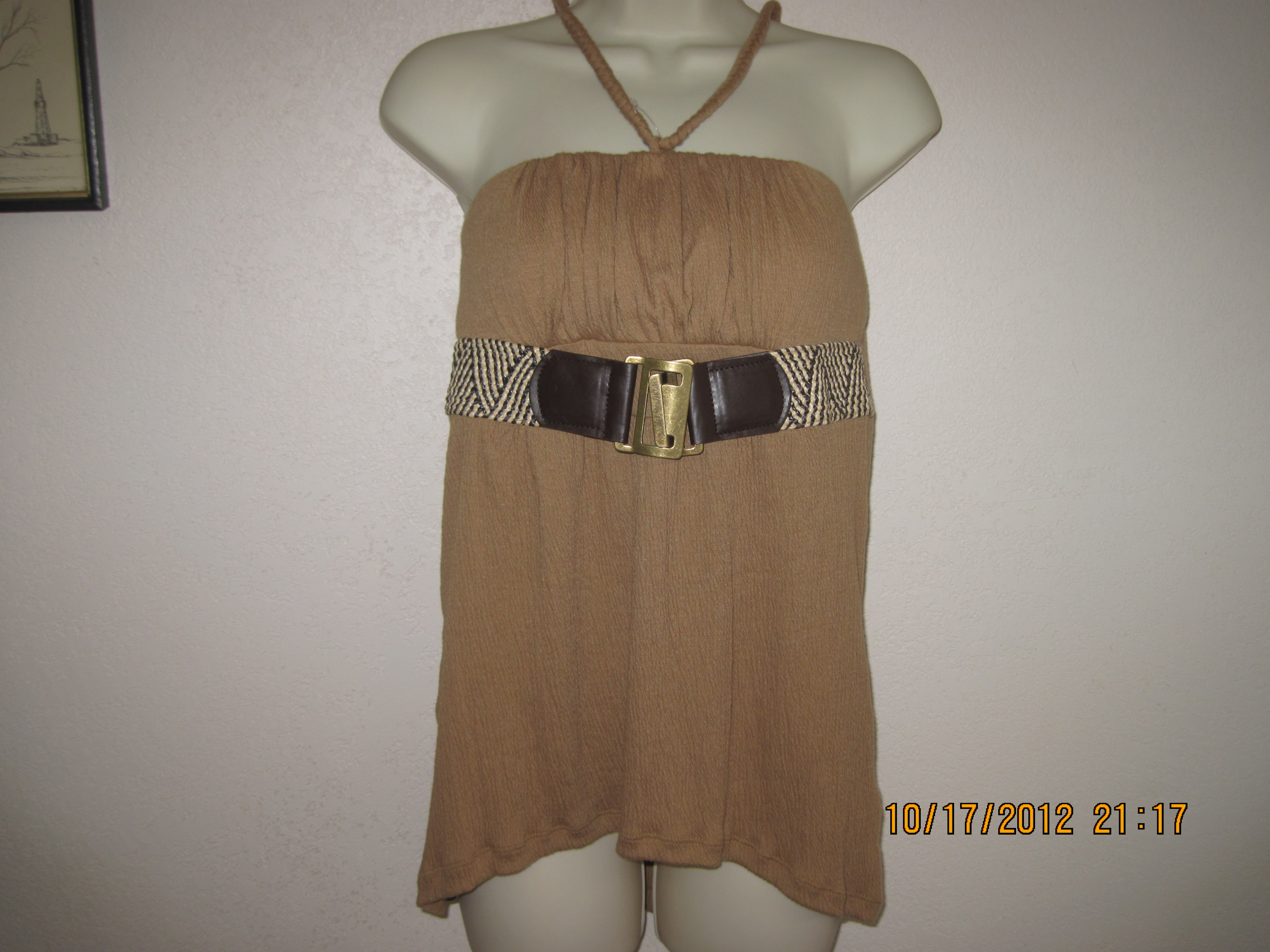 Bongo Sz M Juniors Belted Knit Tube Top