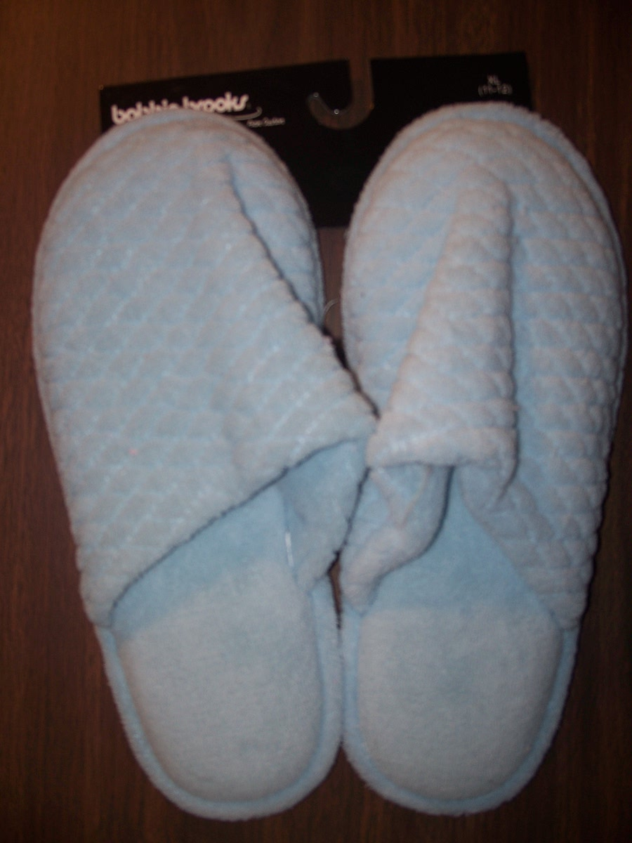 Sz Medium 7-8 Blue Comfort Slipper