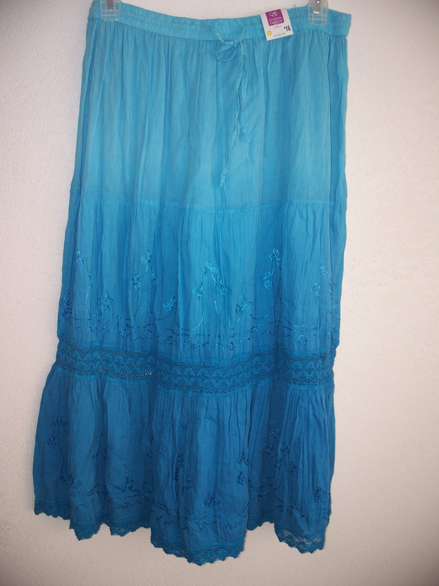 Bobbie Brooks Sz 1X16-18 Skirt (Blues)