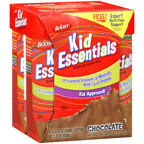 Boost Kid Essentials Chocolate Nutritionally Complete Drink, 8.2