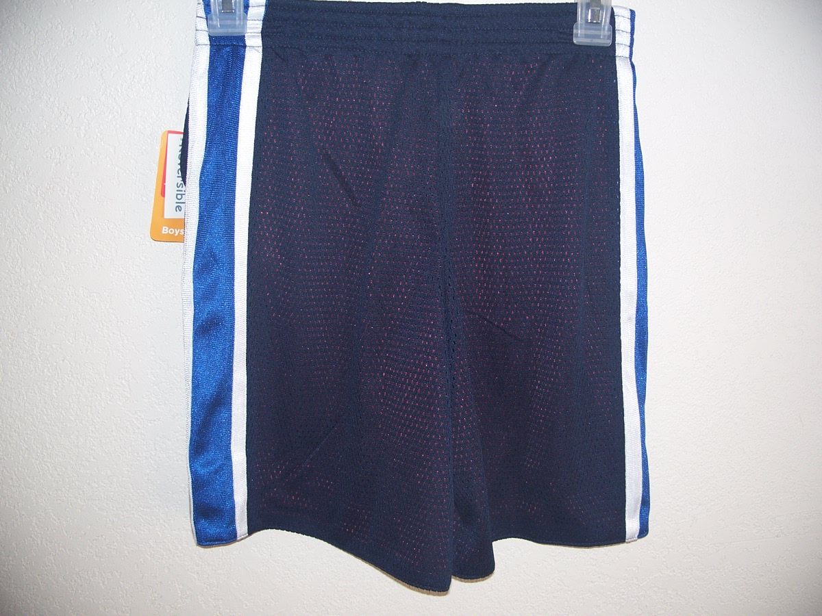 Open Trails Sz m 8-10 Reversible Shorts(Blue/White/Maroon/White